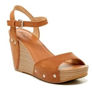 Lucky Brand Marshha Leather Wedge Sandal
